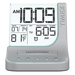 Timex Color-Changing Radio Alarm Clock, Clear (T125SC)