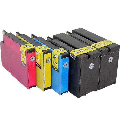 ms-point® 5 kompatible Druckerpatronen mit Chip für HP Officejet 6100 eprinter / 6600 E-ALL-IN-ONE / 6700 Premium / OfficeJet 7110 / OfficeJet 7610 ersetzt NR. 932 933 CN053AE CN054AE CN055AE CN056AE