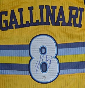 Danilo Gallinari Denver Nuggets Autographed Yellow #8 Jersey by Sports-Autographs