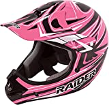 Raider Y55-564P-15 Rush Girls' Youth MX Off-Road Helmet, Pink (Large)