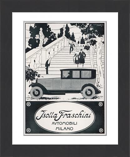 framed-print-of-isotta-fraschini-car