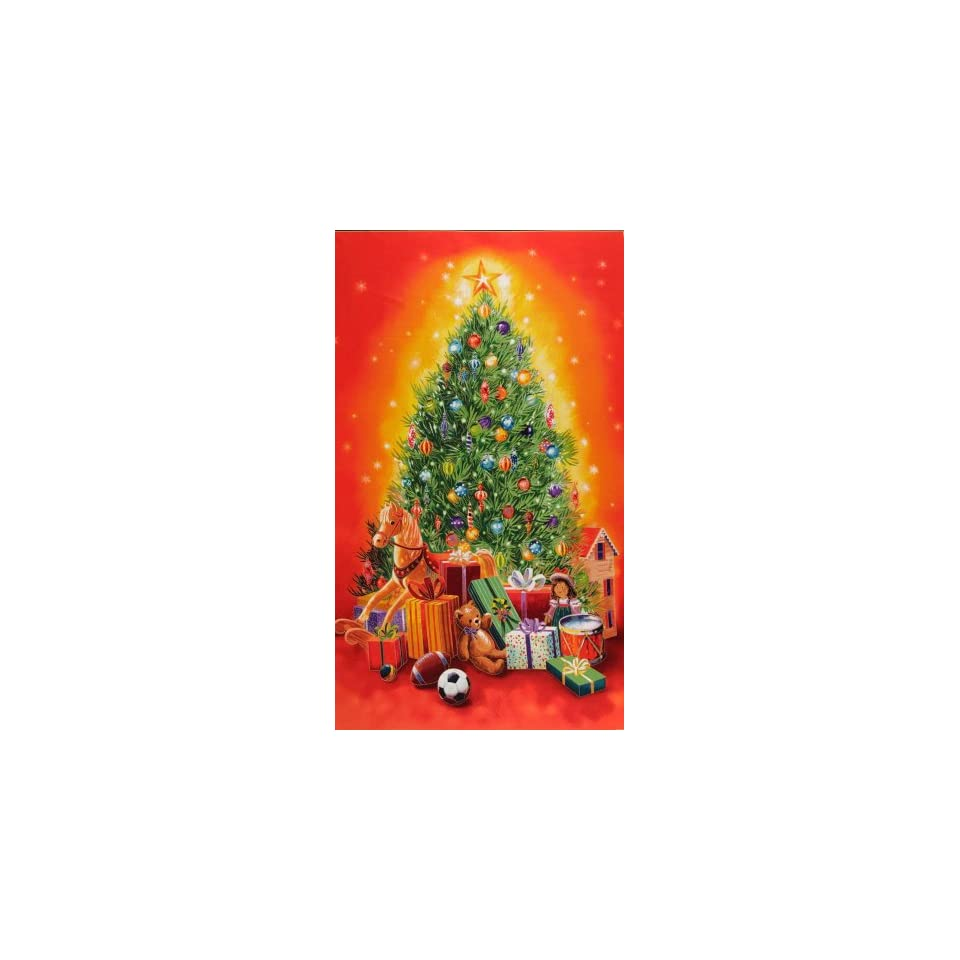 58 Wide Santas Christmas Tree Panel Multi Fabric By The Panel