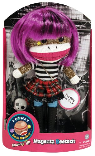 Planet Sock Monkey Doll - Magenta Beetsch