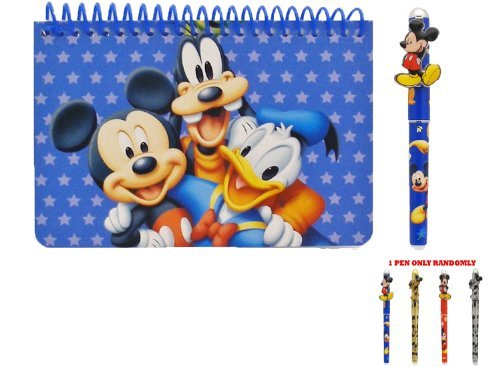 Disney Mickey Mouse and Friends Spiral Autograph Book - Blue - 1