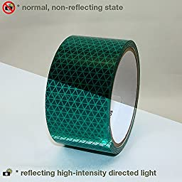 Oralite V92-DB-COLORS Microprismatic Retroreflective Conspicuity Tape: 2 in. x 15 ft. (Green)