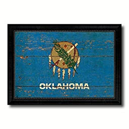 Oklahoma State Vintage Flag Collection Western Interior Design Souvenir Gift Ideas Wall Art Home Decor Office Decoration - 23\