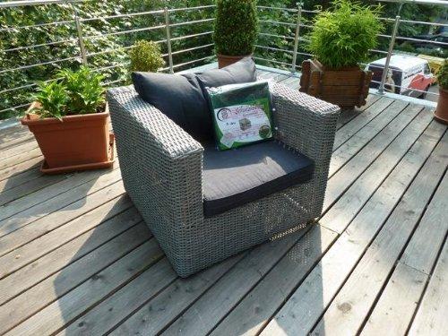 Schutzhülle Rattanmöbel -Rattan Lounge Sessel / Gartensessel 120x95x65cm. günstig online kaufen