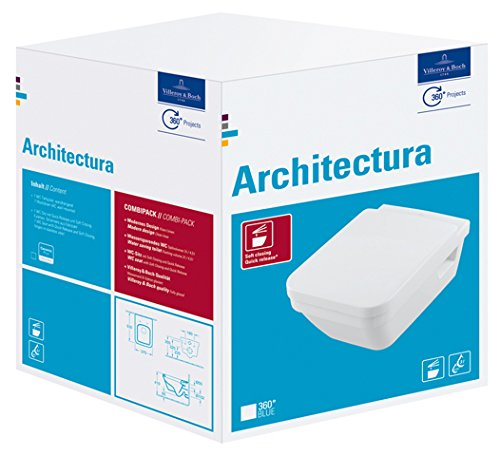 V & B Combi Pack ARCHITECTURA 5685HRR1 Weissiß with C + Coating