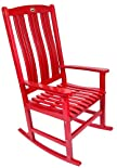 Single RockIng chair With Contoured Back in Red Paint Finish