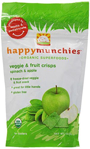 Happy Family happy munchies Veggie & Fruit Crisps - Apple & Spinach - 1 oz - 1