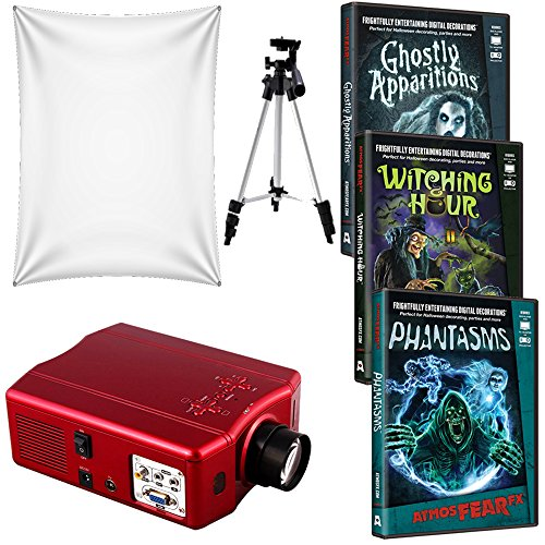 AtmosFearFX-Phantasms-Witching-Hour-and-Ghostly-Apparitions-Virtual-Reality-HD-Projector-Kit-for-Halloween-Includes-LED-Projector-Projection-Screen-and-Tripod