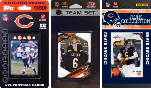 Nfl Chicago Bears 3 Different Licensed Trading Card Team Sets