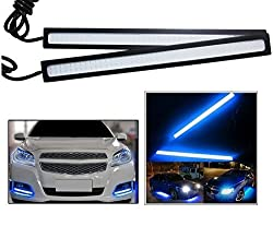 Autosun Daytime Running Lights Cob LED DRL (Blue) for Maruti Suzuki Swift Dzire (Old)