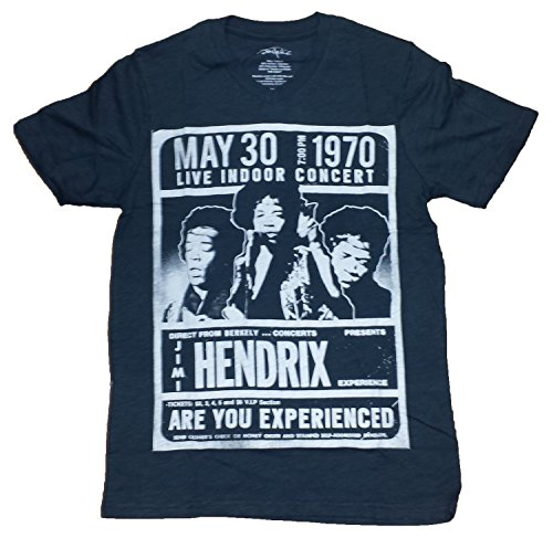 Jimi Hendrix Concert Tee May 30 1970 Graphic T-Shirt (2Xl)
