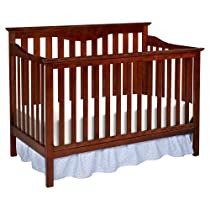 Hot Sale Delta Children's Products Harlow 4-in-1 Fixed Side Convertible Crib, Cherry