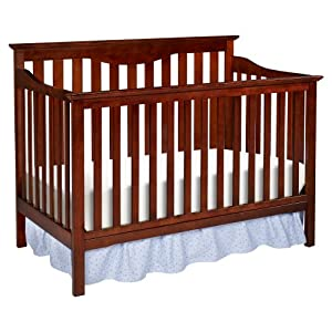 Delta Children's Products Harlow 4-in-1 Fixed Side Convertible Crib, Cherry (Discontinued by Manufacturer)