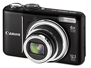 Canon PowerShot A2100 IS Digitalkamera (12 Megapixel, 6-fach opt. Zoom, 7,6 cm (3 Zoll) Display) Black