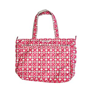 Ju-Ju-Be Super Be Zippered Tote Diaper Bag, Pink Pinwheels by Ju-Ju-Be