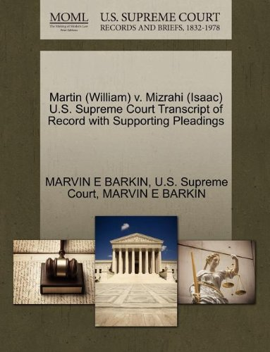 martin-william-v-mizrahi-isaac-us-supreme-court-transcript-of-record-with-supporting-pleadings