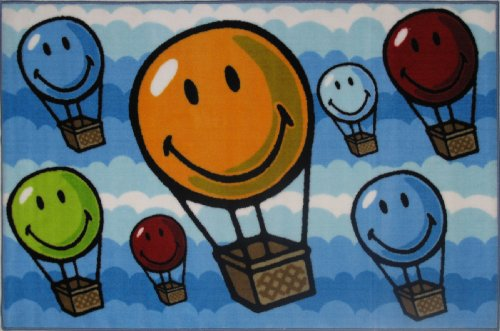 Fun Rugs Sw-17 1929 Smiley World Hot Air Balloon front-631810
