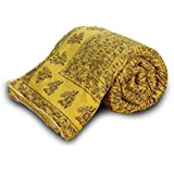Total Furnishing Jaipuri Hand Block Print Traditional Desgin Double Bed Jaipuri Razai - Quilt