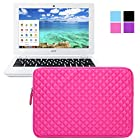 Evecase Acer Chromebook 11 Sleeve, Premium Neoprene Sleeve Case Travel Carrying Storage Computer Bag for Acer Chromebook 11 CB3-111-C670/ C740/ C720P / C720 / C710 / C7 11.6-Inch Series ChromeBook Laptop - Hot Pink