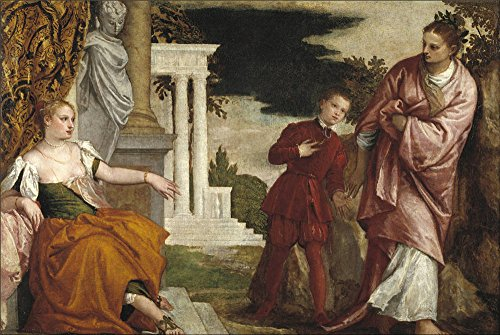Oil Painting 'Veronese Paolo Youth Between Vice And Virtue Ca. 1581', 30 x 45 inch / 76 x 114 cm , on High Definition HD canvas prints is for Gifts And Bath Room, Dining Room And Hallway Decoration (Vice Vapor compare prices)