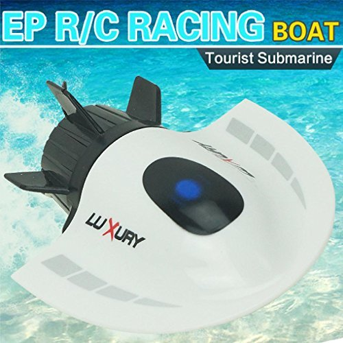 RC Remote Boat Toys, Hosamtel Mini Submarine Toy 4CH High Powered Speed RC Boat Ship 2.4G Radio Boat Plastic Tourist Submarine Model Outdoor Toys (Bb Guns Pistols Co2 compare prices)
