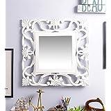 Fashion Decorative Wall MDF Square Shape Mirror Off White By Artesia