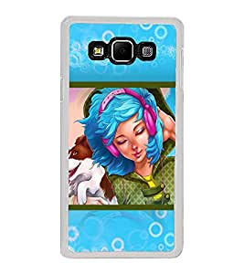Girl Listening Music 2D Hard Polycarbonate Designer Back Case Cover for Samsung Galaxy A8 (2015 Old Model) :: Samsung Galaxy A8 Duos :: Samsung Galaxy A8 A800F A800Y