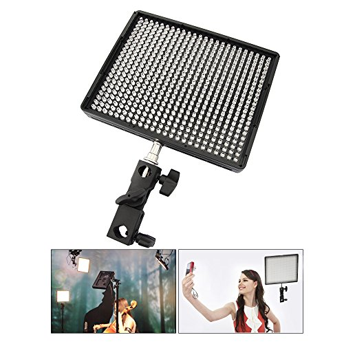 Aputure Al-528W 528 Leds Waterproof 3.2Cm Thick Ipad Size Ground-Breaking Tungsten Filter & White Diffusing Filter Led Video Light Panel Color Temperature Adjustable Include Carry Case Perfect For Selfile