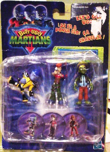 Butt Ugly Martians - Collectible Figures with Bogs - Commander B. Bop, Mikey Ellis & Alien Rinko