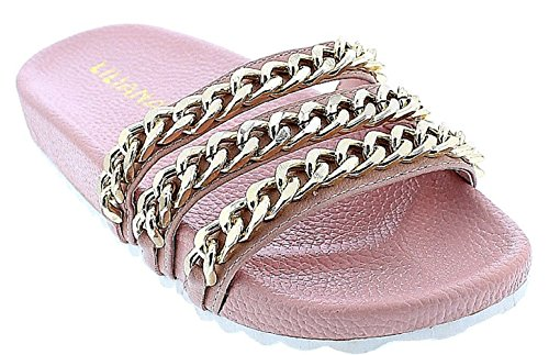 liliana-nomi-2-women-flip-flop-gold-chain-link-slide-slip-on-flat-sandal-shoe-slipper-pink-7
