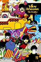 Posters: The Beatles Poster - Yellow Submarine (36 x 24 inches)