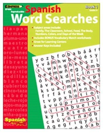 Edupress Ep-460 Spanish In A Flash Word Searches 1 - 1