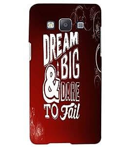 SAMSUNG GALAXY A5 DREAM BIG Back Cover by PRINTSWAG