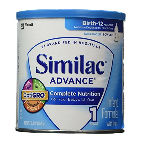 Similac Advance Baby Formula - Powder - 12.4 Oz (Pack of 6) - 1
