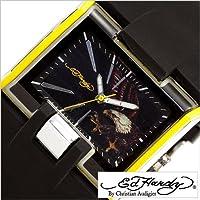 エドハーディー腕時計 [EdHardy時計](Ed Hardy 腕時計 エド ハーディー 時計) メンズ腕時計/ブラック ホワイト/EDHARDY-HR2-YW [アナログ ブランド]