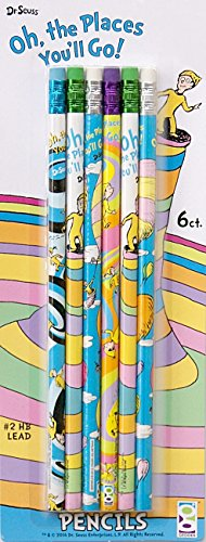 Dr. Seuss 6pk Pencils Back to School Oh, the Places You'll Go!!! - 1