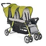 Childcraft The Trio Sport Triple Tandem Stroller, Lime