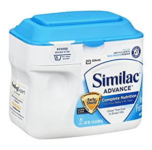 Similac Advance Infant Formula with Iron, Stage 1 Powder, 23.2 Ounces (Pack of 6) (Packaging May Vary)