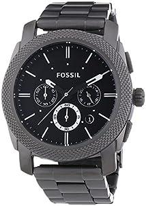 Fossil - FS4662 - Montre Homme - Quartz Analogique - Chronomètre - Bracelet Acier Inoxydable Plaqué Gris