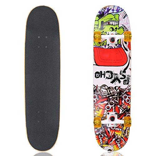 vokul-skateboards-31-x-8-high-bounce-complete-cruiser-longboard-skateboard-black-yellow