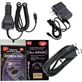GPS Charging Bundle 5 Piece Kit for Garmin Nuvi 40 & 40LM : Car Charger, House Charger and USB Cable Charger with Antenna Booster, Anti Radiation Shield .