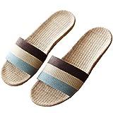 (アザブロ)AZBRO メンズ 夏 カラーブロック 編み 麻 快適 室内 おしゃれ 歩きやすい 静音で軽量 来客用 部屋用 スリッパ