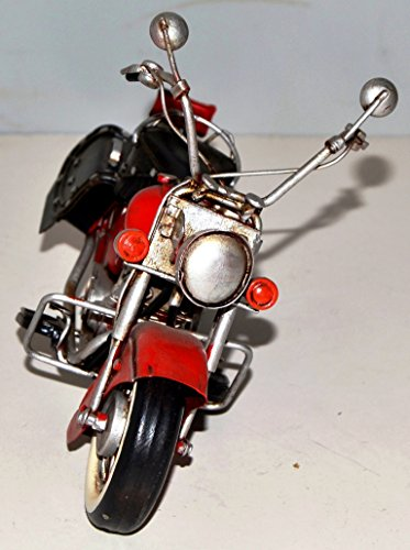 Indian Motorcycle 1950 Sheet Metal To Metal Motorcycle Model A Tin Model Red Vintage Bike Motor Bike Motor Cycle Approximately 22 cm 37921