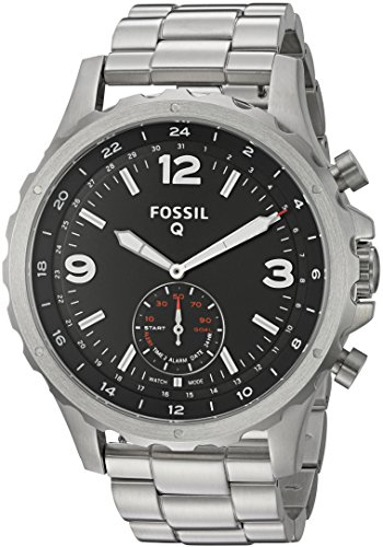 Fossil-Q-Nate-Gen-2-Hybrid-Silver-Stainless-Steel-Smartwatch