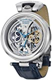 Stuhrling Original Mens 127A.3315C2 Special Reserve Emperors Grandeur Automatic Skeleton Dual Time Silver Dial Watch