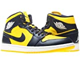"Nike Air Jordan 1 Mid ""Marquette"" Mens Basketball Shoes 554724-707 Varsity Maize 7.5 M US"