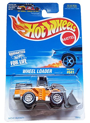 1996 - Mattel - Hot Wheels - Wheel Loader (Orange & Black) - CTS Wheels - 1:64 Scale Die Cast - Collector #641 - Collector Perfect - Out of Production - New - Limited Edition - Collectible
